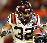 Darren Evans had a fourth-quarter touchdown to give Virginia Tech a two-score lead. (Getty)