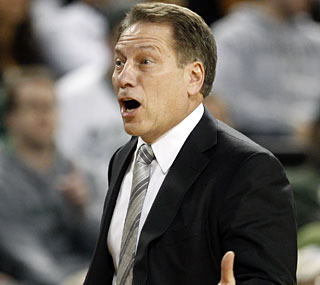 Tom Izzo's Spartans lose their first game while the coach misses a chance to pass Jud Heathcote.  (AP)