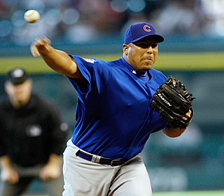 'I was not in a panic, not nervous,' Carlos Zambrano says after striking out six.  (Getty Images)