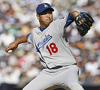 Hiroki Kuroda doesn't last as long as Jake Peavy, but is considerably more effective.  (US Presswire)