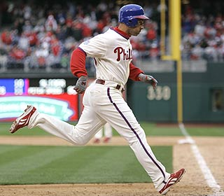 Raul Ibanez hits a 2-run HR to help Philly erase a 10-3 margin and pick up its first win of the season. (AP)