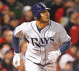 Carlos Pena goes deep in the fifth inning to help the Rays pin another defeat on Jon Lester.  (Getty Images)