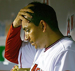 With a tough act to follow in Anaheim, Brian Fuentes contemplates his first blown save.  (Getty Images)