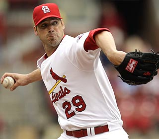 Chris Carpenter flirts with a no-no before settling for one hit over seven innings. He also K's 7. (AP)