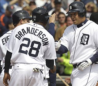Miguel Cabrera, who got off to a slow start last year, is popular in Detroit after his 6-RBI day.  (AP)