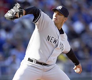 Andy Pettitte has his good stuff on this day. He gives up a run and three hits in seven innings. (AP)
