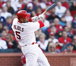Albert Pujols matches his career high for RBI that he set Aug. 22, 2006.  (AP)