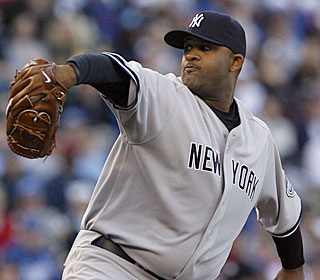 CC Sabathia rebounds from his opening day struggles, allowing no runs in 7 2/3 innings.  (AP)
