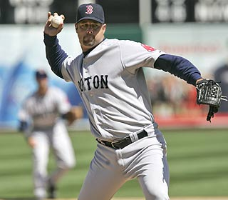 Tim Wakefield settles for a four-hitter after falling short of the first no-no of his 17-year career. (AP)