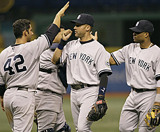 Wrapping up a nine-game road trip at 5-4, the Yanks now head to the Bronx and their new stadium.  (AP)