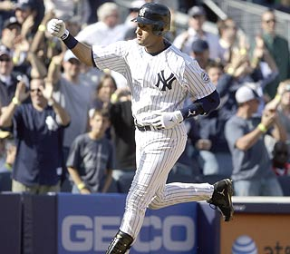 The Yanks don't have to wait long for the first win in their new ballpark, thanks to Derek Jeter's HR. (AP)
