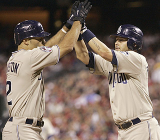 Scott Hairston smacks a two-run homer in the fifth and the surprising Padres are now 8-3. (AP)