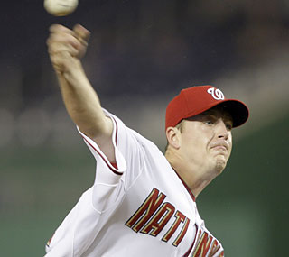 Nats rookie Jordan Zimmermann has a successful big-league debut and earns his first career win.  (AP)