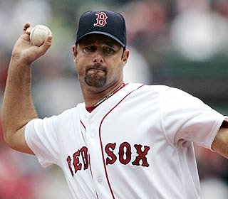 Due to rain, Tim Wakefield needs only seven innings for his second straight CG, but he'll 'take it.' (AP)