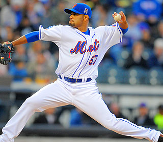 In a funk? Johan Santana is the cure for the Mets as he allows a run on six hits in six innings. (US Presswire)