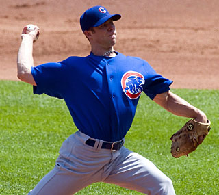 Rich Harden is strong on the mound for Chicago, striking out nine in six innings.  (US Presswire)