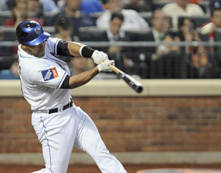 Omir Santos' grand slam not only sinks the Marlins, it marks the first one in Citi Field history. (AP)
