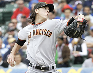 Tim Lincecum dominates Chicago's reserves, fanning seven while allowing only four hits.  (AP)