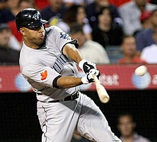 Vernon Wells adds a three-run dinger in the second inning that pushes the lead to 7-0.  (Getty Images)