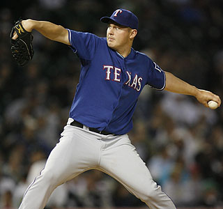 Texas hurler Matt Harrison hasn't allowed a run in 19 straight innings of work.  (AP)