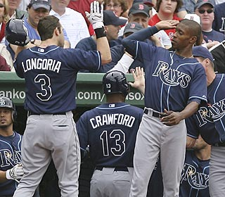 Evan Longoria is out of control. He leads the league in RBI and is hitting .367 on the season. (AP)