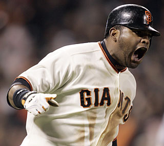Pablo Sandoval unleashes a game-winning, three-run shot to propel the Giants past the Nats.  (AP)