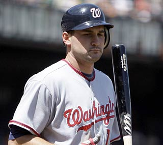 Ryan Zimmerman falls short of the franchise-record streak set by Vlad Guerrero for the Expos in '99.  (AP)