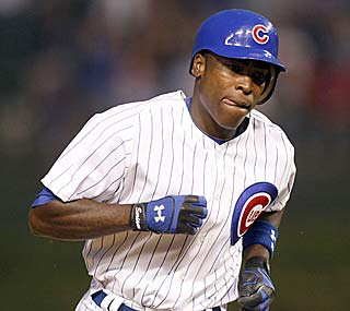 Alfonso Soriano hits his 53rd career leadoff home run and ties Craig Biggio for second on the all-time list.  (AP)