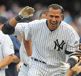 Alex Rodriguez (11th-inning HR) is the hero in his second game at the new Yankee Stadium.  (US Presswire)