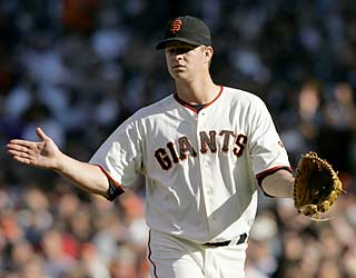 Skid? What skid? Matt Cain cruises through six to help end the Giants' losing ways against the Mets.  (AP)
