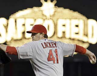 John Lackey gives up five runs in his second start in three days, but manages to last longer than two pitches.  (AP)