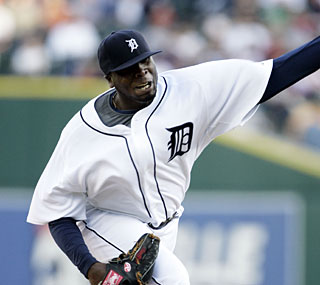 Dontrelle Willis finally has a victory to his credit in a Tigers uniform.  (AP)