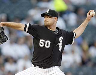John Danks gets plenty of help from the White Sox offense and picks up his first win in nearly a month.  (AP)