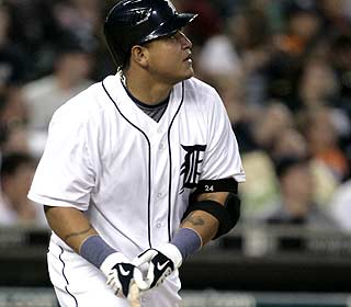 Miguel Cabrera's lone hit wins it for Detroit, which sweeps Texas for the second time this year. (AP)