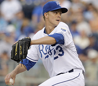 Zack Greinke (8-1) gets 'rocked' for a run on six hits. His ERA is now an 'astronomical' 0.84. (AP)