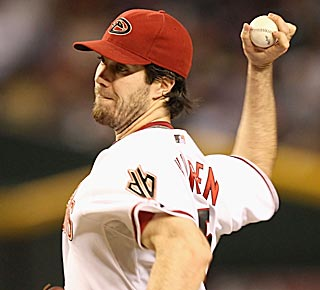 Dan Haren lowers his ERA to 2.54 and extends his streak of innings without a walk to 22.  (Getty Images)