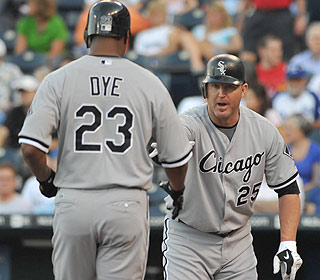 Starting with Jermaine Dye's homer, the offense keeps rolling along for the White Sox. (US Presswire)
