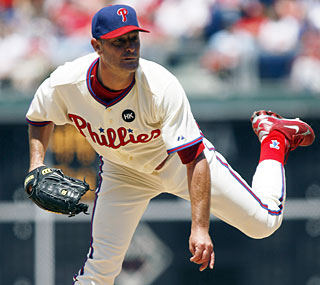 Jamie Moyer is the 44th player in MLB history to win 250 games -- and just the 11th lefty.  (AP)