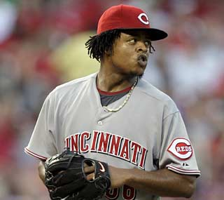 It's a tough return from the DL for Edinson Volquez, who exits after the first due to numbness in his fingers.  (AP)