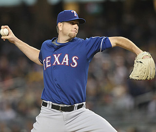Scott Feldman yields two runs and five hits over 6 1/3 innings, improving to 5-0.  (Getty Images)