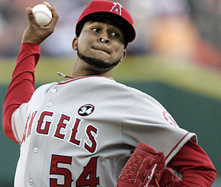 Ervin Santana strikes out seven and allows six hits to collect his first win since Sept. 22. (AP)
