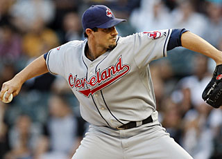 Carl Pavano faces only four batters over the minimum for his first shutout since 2005. (US Presswire)