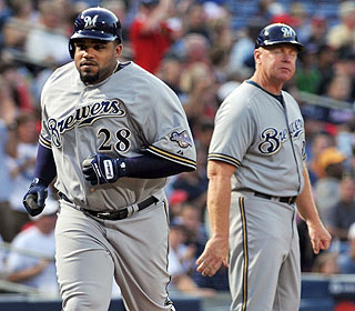 It's another successful night for Prince Fielder. He hits his 14th and 15th homers of the year. (AP)