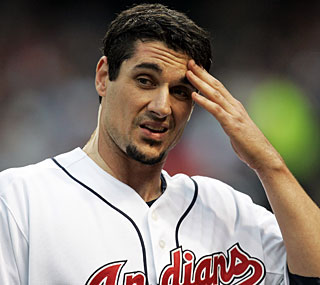 Carl Pavano has a rough outing, giving up nine runs and 11 hits in just 4 2/3 innings.  (AP)