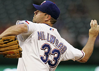 Kevin Millwood throws 105 pitches in working 7 2/3 scoreless innings to earn his sixth win. (AP)