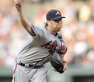 Tommy Hanson doesn't look like a Hall of Famer yet but he does strike out five in 5 2/3 innings. (AP)