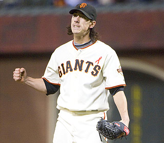 He's a machine. Tim Lincecum strikes out eight A's as he picks up his sixth win of the season. (US Presswire)