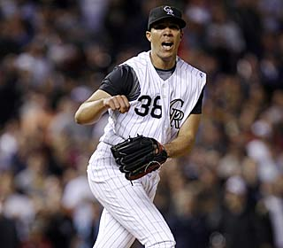 'I am improving in every aspect of the game,,' Ubaldo Jimenez says after driving in a run.  (AP)