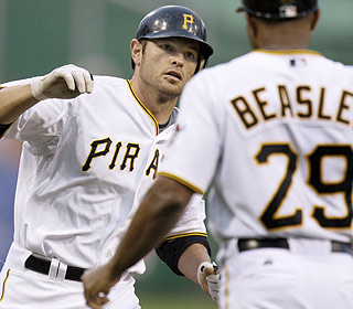 Freddy Sanchez highlights the Pirates' second four-run rally with a slam off Nate Robertson. (AP)
