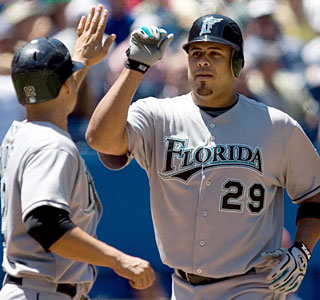 Ronny Paulino hits two homers and draws praise from his batterymate for his work behind the plate.  (AP)